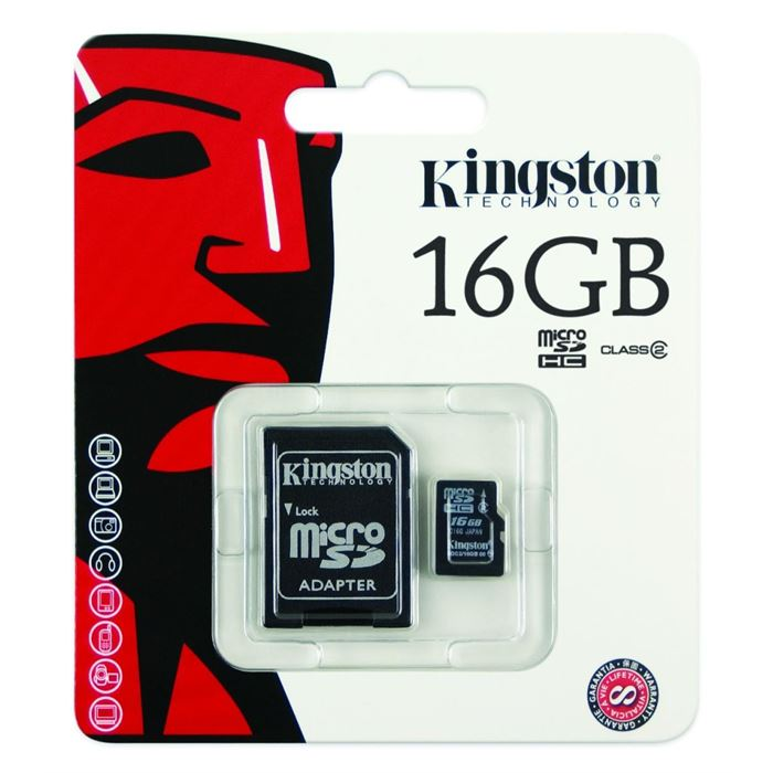 Kingston 16 Gb. Hafıza Kart Micro Sd+Mini Adaptörlü