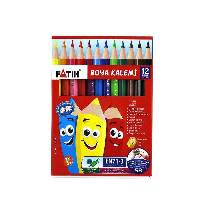 Fatih 12 Renk 1 2 Yarim Boy Kuru Boya 33012 Kaya Kirtasiye