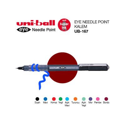 Uni-Ball Ub-167 Turuncu Needle Kalem