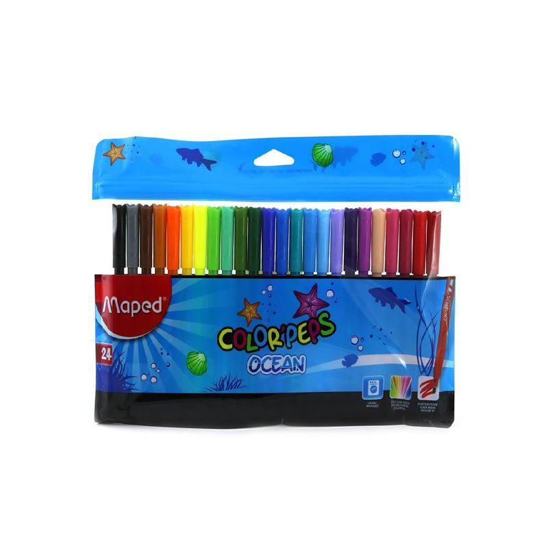 MAPED 845722 COLOR PEPS OCEAN 24 RENK KEÇELİ KALEM