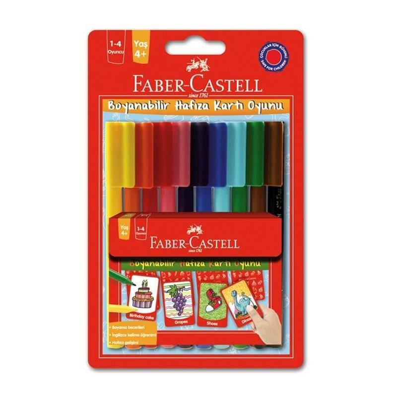 Faber 10 Renk Keceli Boya Hafiza Kart Oyun 8155053 Kaya Kirtasiye
