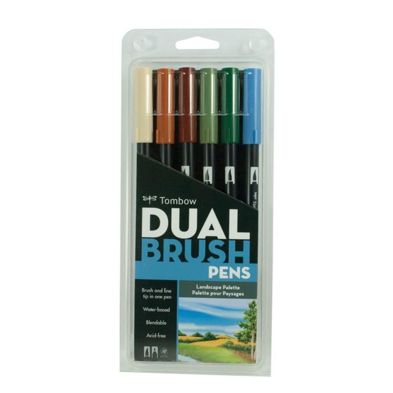 TOMBOW DUAL BRUSH PEN PEYZAJ 6 LI T-164