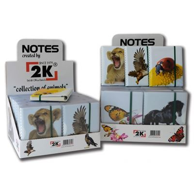 2K 2774 11x14 LASTİKLİ CEP DEFTER ANIMALS NOTEBOOK