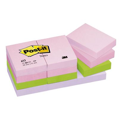 3M 653 FL POST-IT FLORAL 38x51 mm 12 Lİ