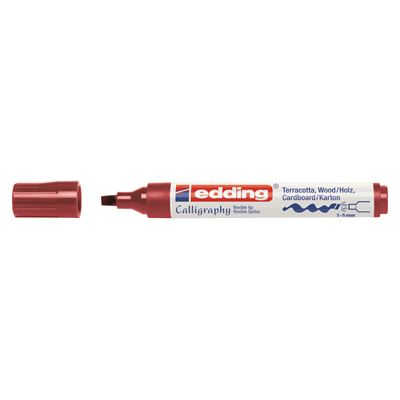 EDDİNG 1455 BORDO KALİGRAFİ KALEMİ 1-5mm