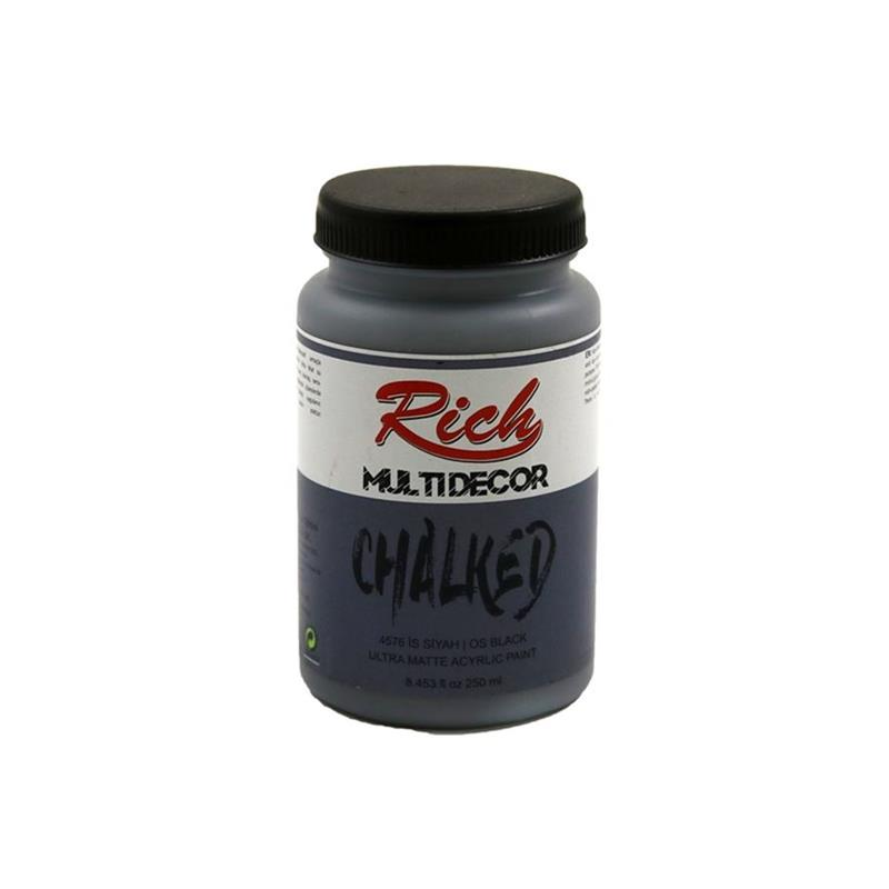 Rich Multi Decor Chalked Akrilik Boya 250 Cc 4576 İs Siyah