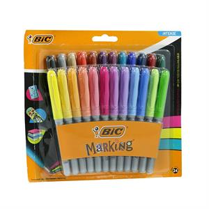 BİC MARKING COLOUR PERMANENT KALEM 24 LÜ BL.961440